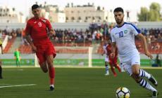 جانب من مباراة الوطني وأوزبكستان