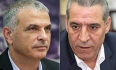 حسين الشيخ (يمين)، ووزير المالية الإسرائيلي موشيه كحلون