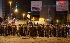 انتشار كثيف للقوات الأمنية للفصل بين الجانبين عند جسر الرينغ وسط بيروت