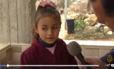 عندما سأل المذيع هذه الطفلة الفلسطينية عن خوفها من الاحتلال .. شاهد كيف كان ردها ؟