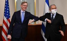 نتنياهو مع المبعوث الأميركي، هوك (مكتب الصحافة الحكومي)