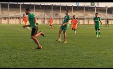 جانب من مباراة خدمات رفح وشباب الزوايدة