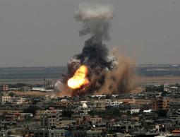 جانب من العدوان على قطاع غزة