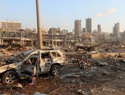 صور من مكان انفجار بيروت