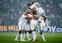 فرحة لاعبي الجزائر بالفوز