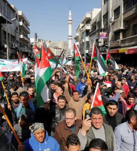 """أردنيون يدعون لإسقاط """"صفقة القرن"""""""