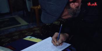 #شاهد : مسن يرسم القرءان الكريم بقلم رصاص