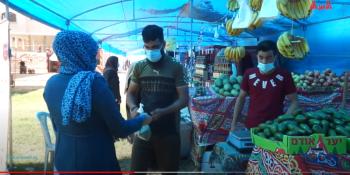 افتتاح سوق الأنوار الخيري بمدينة غزة