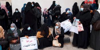 شاهد| اعتصام لأهالي شهداء 2014 في غزة للمطالبة بصرف رواتبهم