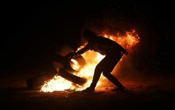 فعاليات الارباك الليلي على حدود شرق قطاع غزة