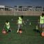 جانب من تدريبات الأطفال في كرة القدم لذوي البتر