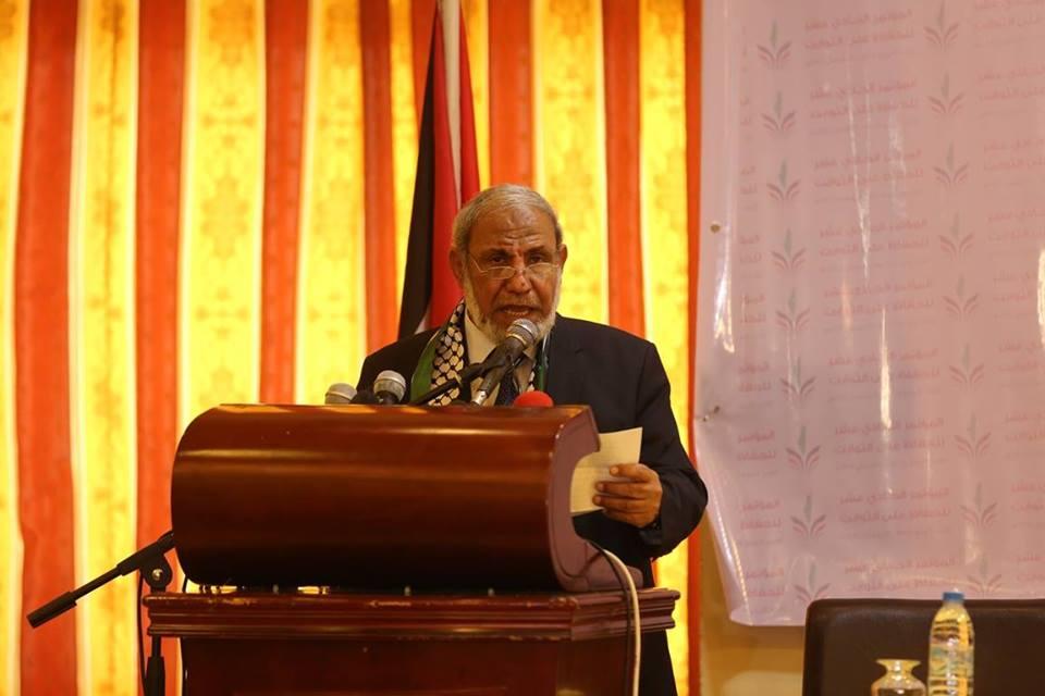 خلال كلمة القيادي في حركة حماس د. محمود الزهار