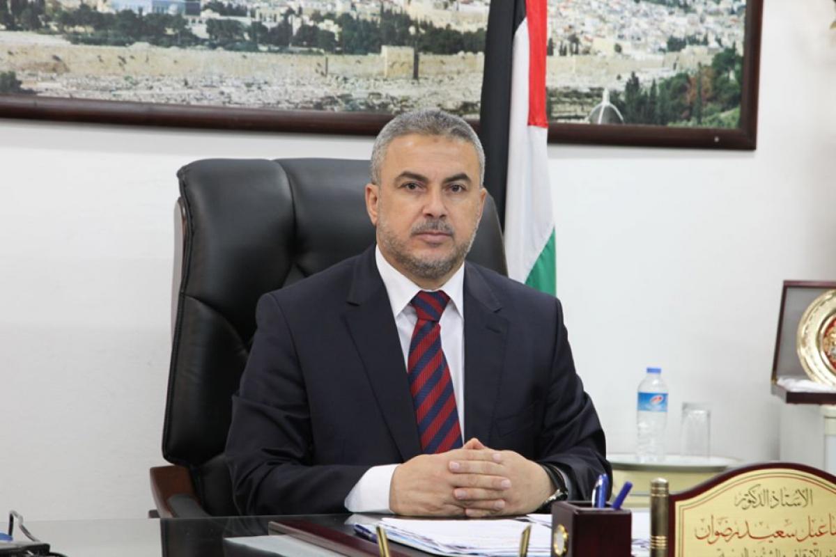 الدكتور اسماعيل رضوان القيادي في حركة حماس