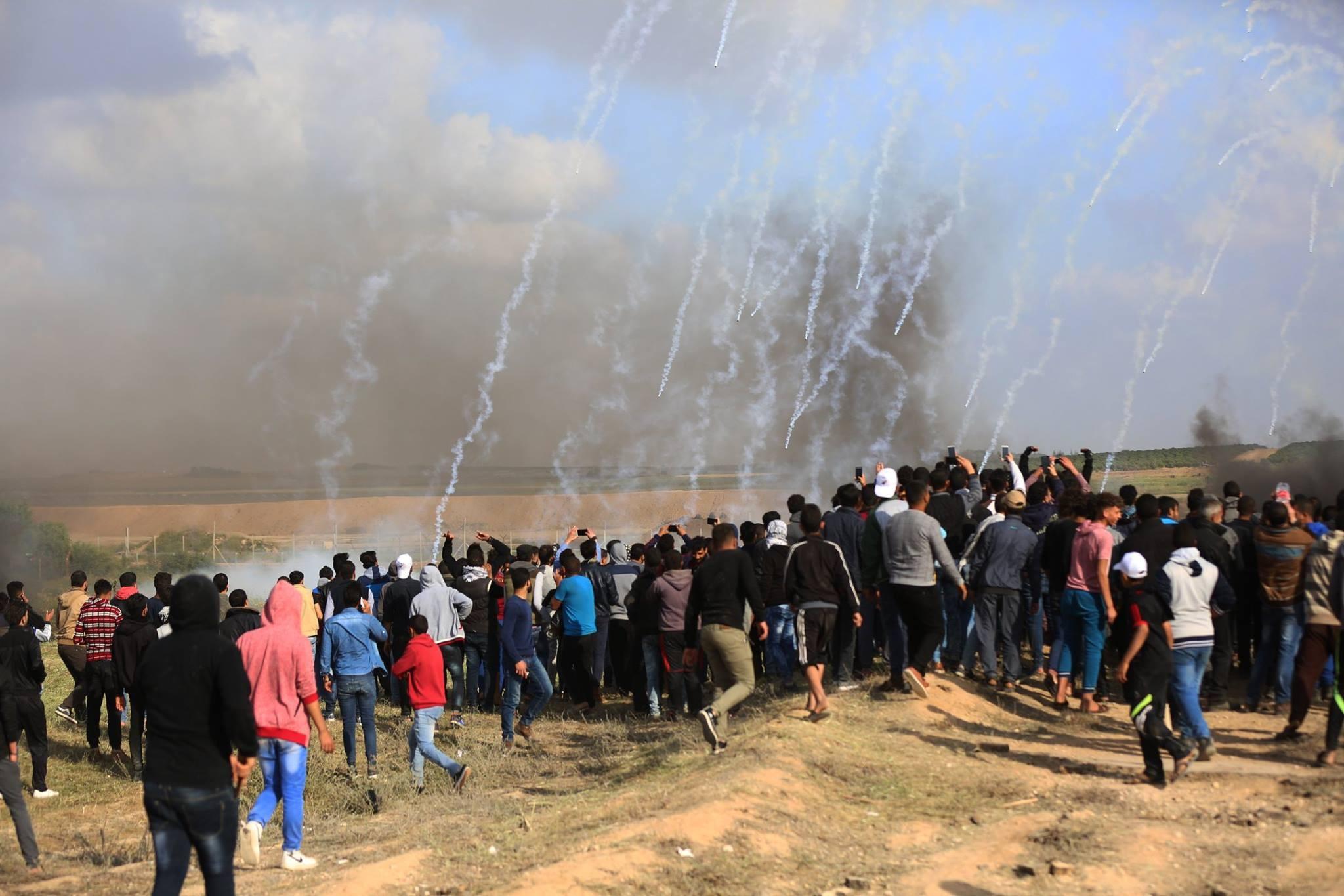 من فعاليات مسيرة العودة شرق قطاع غزة