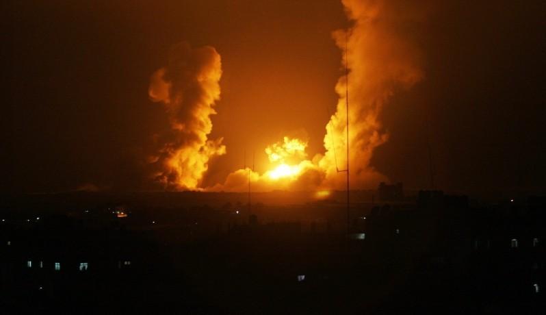 صورة ارشيفية لاستهداف اسرائيلي لغزة