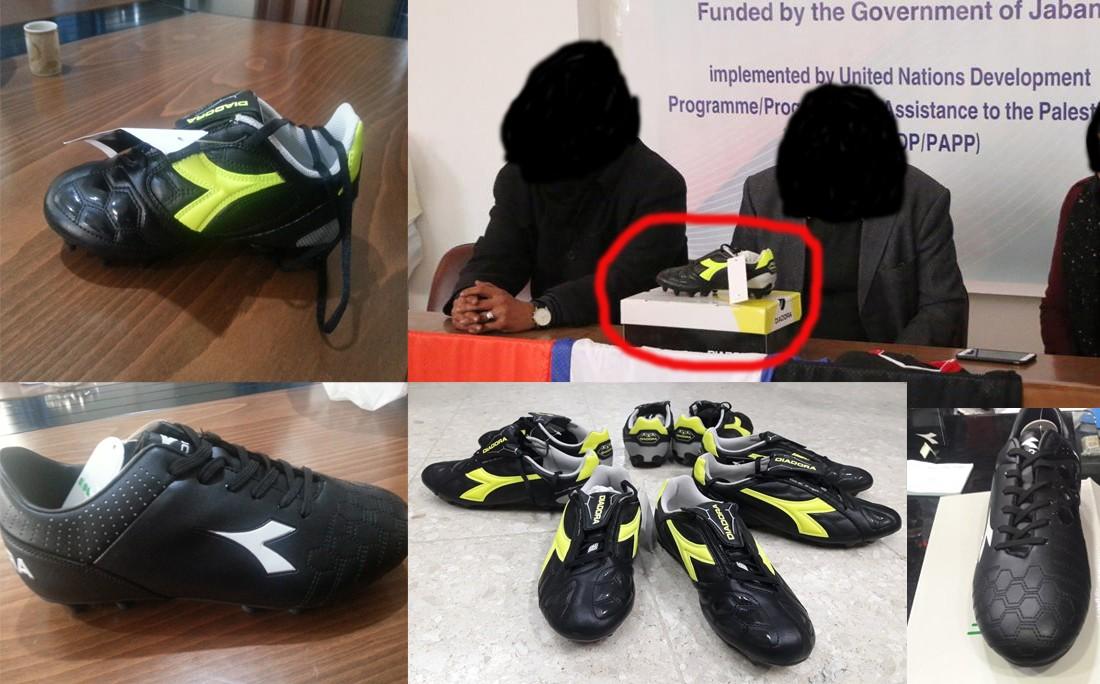 الأحذية الصفراء المفترض توريدها للأندية