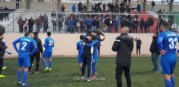 فرحة لاعبي هلال القدس بالفوز