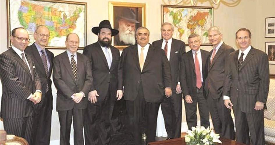وزير خارجية البحرين مع وفد اسرائيلي(صورة ارشيفية)