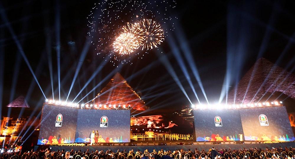 جانب من حفل الإعلان عن استضافة كأس أمم إفريقيا