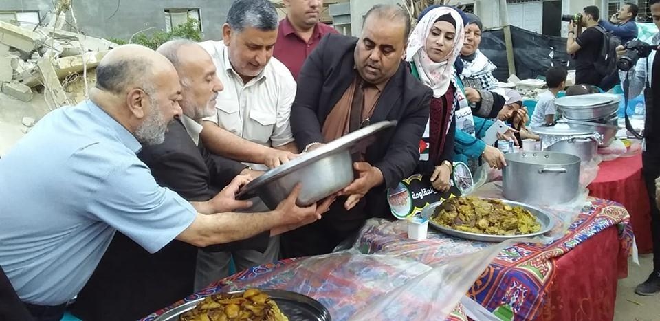 قادة من الفصائل يشاركون بمبادرة 'مقلوبة المقاومة' في غزة