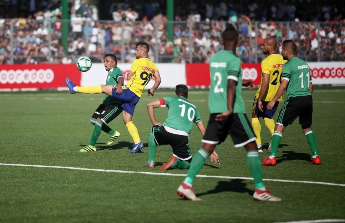 جانب من مباراة ذهاب كأس فلسطين