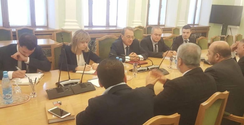 خلال لقاء وفد الحركة مع بوغدانوف في موسكو