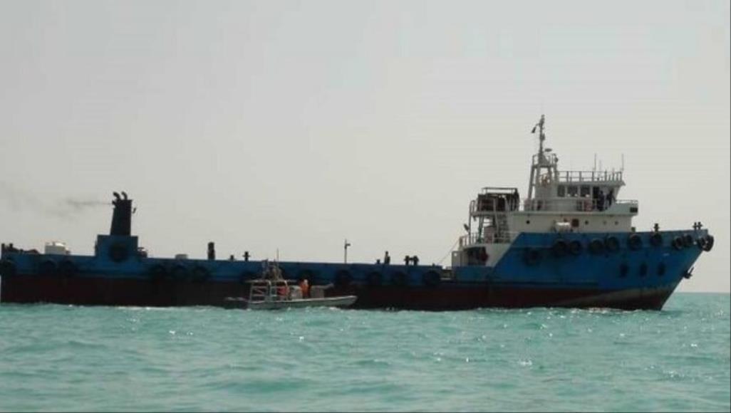 وكالة مهر الإيرانية نشرت صورة سفينة النفط التي أوقفها الحرس الثوري في مياه الخليج بتهمة التهريب