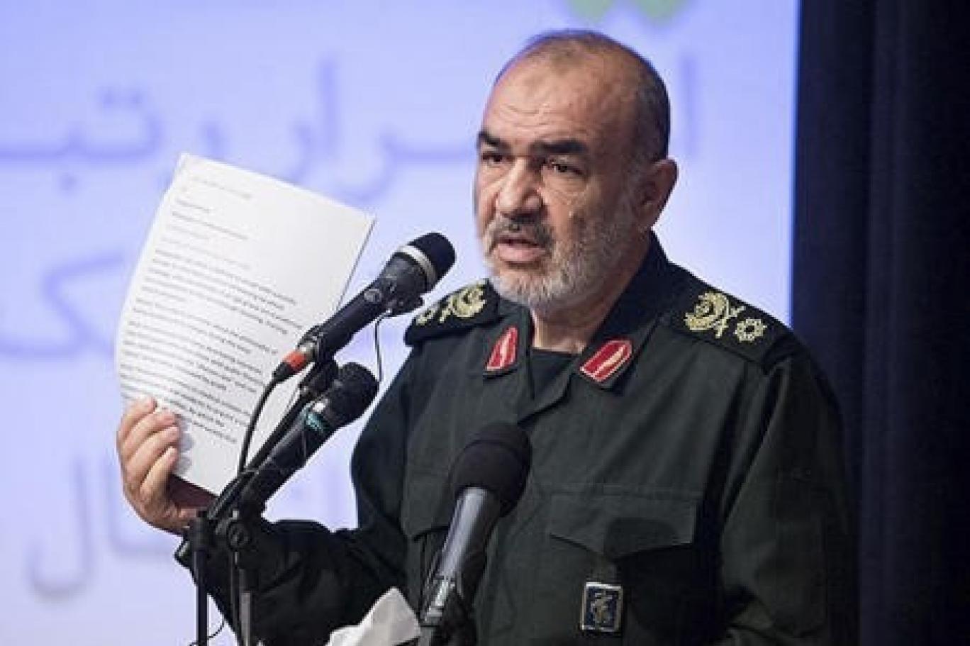 القائد العام لحرس الثورة الاسلامية الإيراني اللواء حسين سلامي