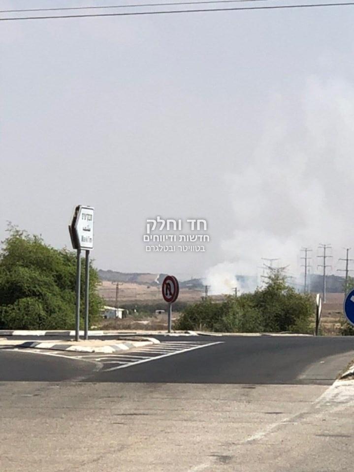 مكان سقوط صاروخ بعسقلان المحتلة
