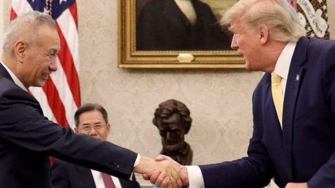 ترامب وليو هي نائب رئيس الوزراء الصيني