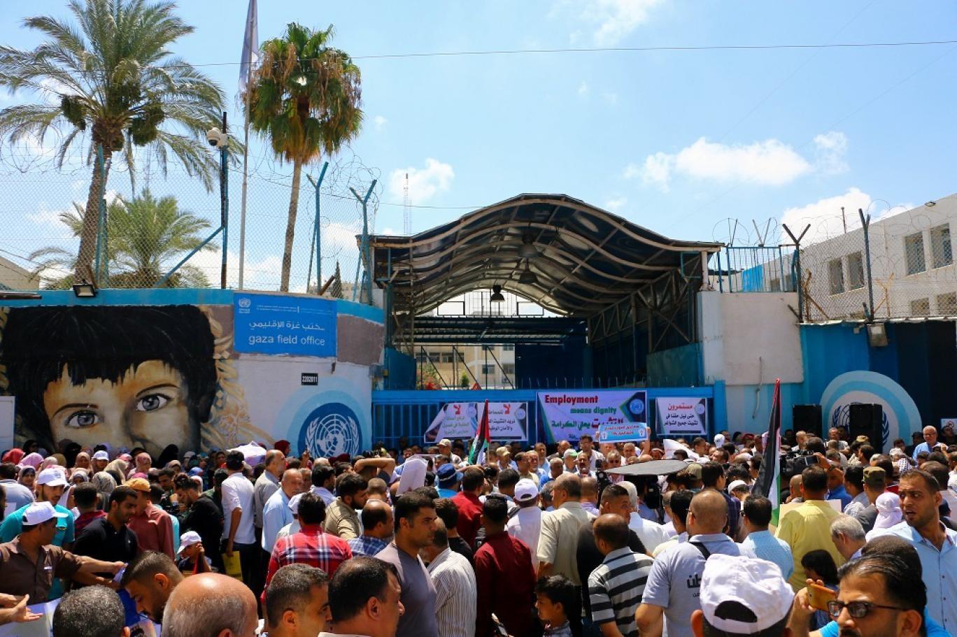 """تظاهرة بغزة: قادة العالم اختاروا المكان الخطأ لاحياء معتقل """"اوشفتتس"""""""