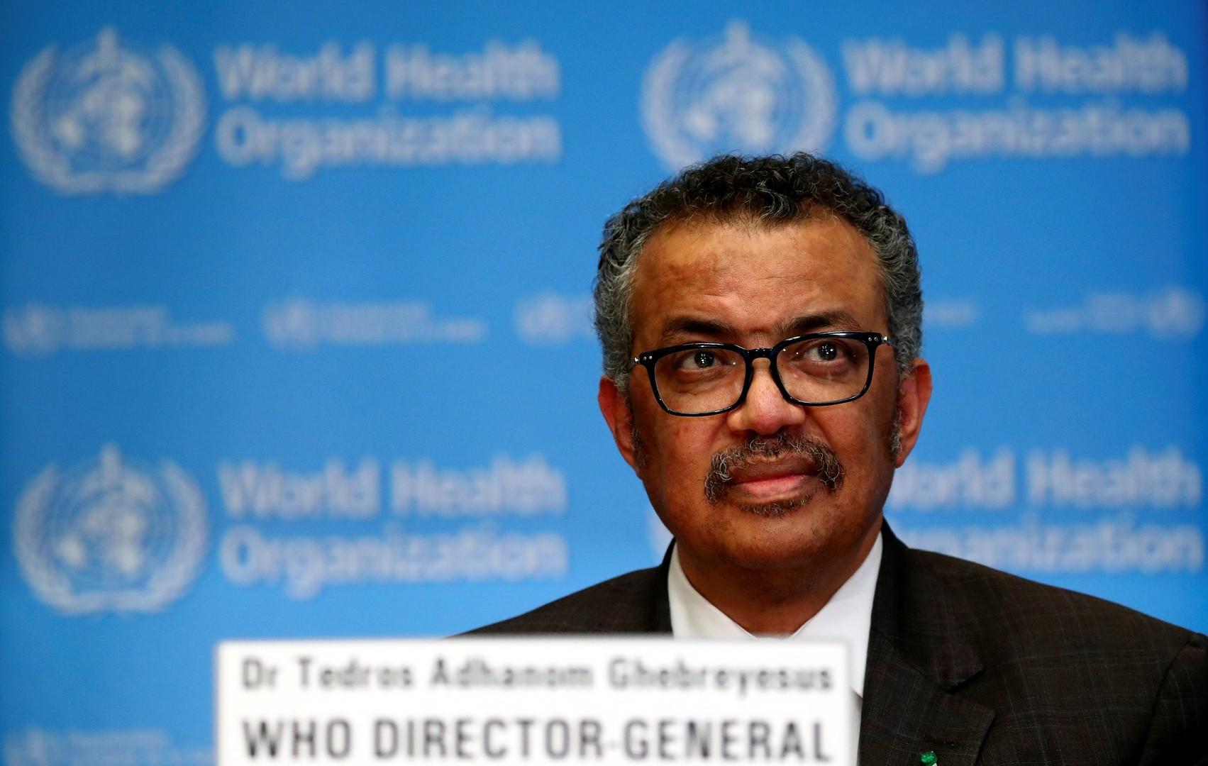 الأمين العام لمنظمة الصحة العالمية تيدروس أدهانوم غيبرييسوس