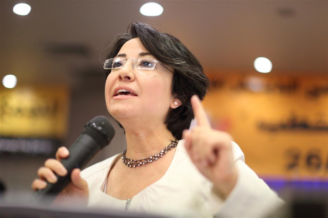 النائب حنين زعبي العضو العربي في الكنيست الاسرائيلي